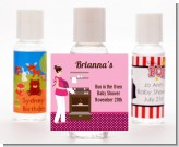 Bun in the Oven Girl - Personalized Baby Shower Hand Sanitizers Favors