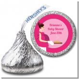 Bun in the Oven Girl - Hershey Kiss Baby Shower Sticker Labels