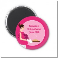 Bun in the Oven Girl - Personalized Baby Shower Magnet Favors