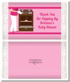 Bun in the Oven Girl - Personalized Popcorn Wrapper Baby Shower Favors