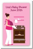 Bun in the Oven Girl - Custom Large Rectangle Baby Shower Sticker/Labels