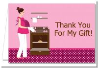 Bun in the Oven Girl - Baby Shower Thank You Cards