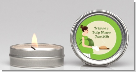 Bun in the Oven Neutral - Baby Shower Candle Favors