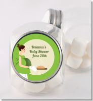 Bun in the Oven Neutral - Personalized Baby Shower Candy Jar