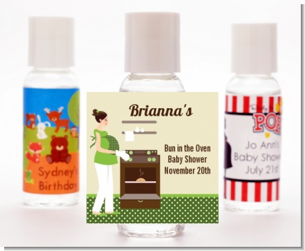 Bun in the Oven Neutral - Personalized Baby Shower Hand Sanitizers Favors