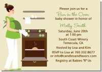 Bun in the Oven Neutral - Baby Shower Invitations