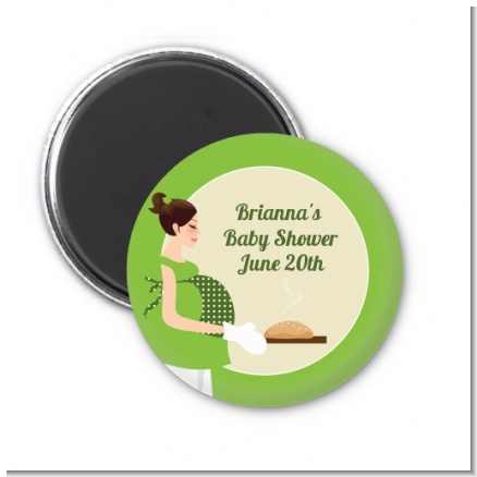 Bun in the Oven Neutral - Personalized Baby Shower Magnet Favors