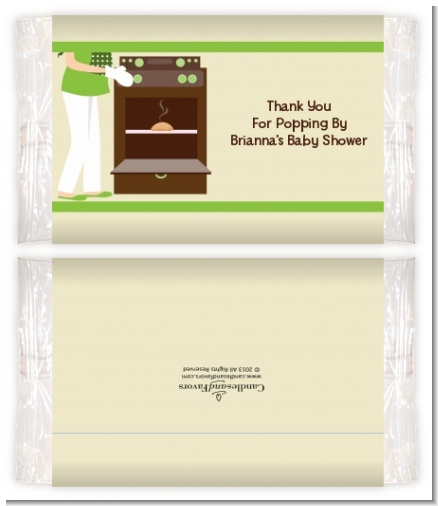 Bun in the Oven Neutral - Personalized Popcorn Wrapper Baby Shower Favors