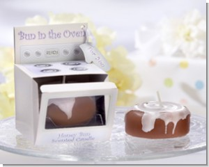 Bun in the Oven Candle Baby Shower Favors - Set of Four