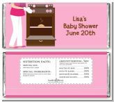 Bun in the Oven Girl - Personalized Baby Shower Candy Bar Wrappers