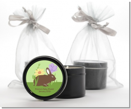 Bunny - Baby Shower Black Candle Tin Favors