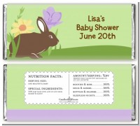 Bunny - Personalized Baby Shower Candy Bar Wrappers