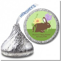 Bunny - Hershey Kiss Baby Shower Sticker Labels