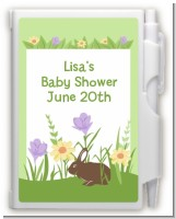 Bunny - Baby Shower Personalized Notebook Favor