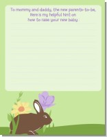 Bunny - Baby Shower Notes of Advice