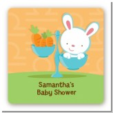 Bunny | Libra Horoscope - Square Personalized Baby Shower Sticker Labels