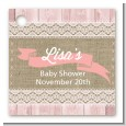 Burlap Shabby Chic - Personalized Baby Shower Card Stock Favor Tags thumbnail