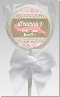 Burlap Chic - Personalized Baby Shower Lollipop Favors