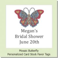 Mosaic Butterfly - Personalized Bridal | Wedding Card Stock Favor Tags