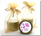 Butterfly - Baby Shower Gold Tin Candle Favors