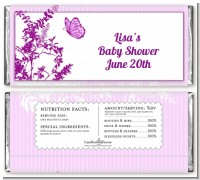 Butterfly - Personalized Baby Shower Candy Bar Wrappers
