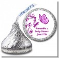 Butterfly - Hershey Kiss Baby Shower Sticker Labels thumbnail