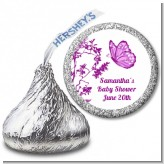 Butterfly - Hershey Kiss Baby Shower Sticker Labels