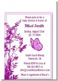 Butterfly - Baby Shower Petite Invitations