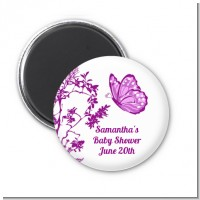 Butterfly - Personalized Baby Shower Magnet Favors