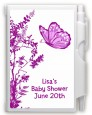 Butterfly - Baby Shower Personalized Notebook Favor thumbnail