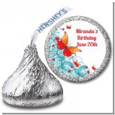 Butterfly Wishes - Hershey Kiss Birthday Party Sticker Labels
