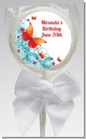 Butterfly Wishes - Personalized Birthday Party Lollipop Favors