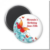 Butterfly Wishes - Personalized Birthday Party Magnet Favors
