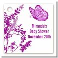Butterfly - Personalized Baby Shower Card Stock Favor Tags thumbnail