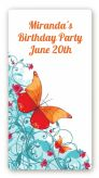 Butterfly Wishes - Custom Rectangle Birthday Party Sticker/Labels