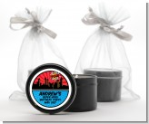 Calling All Superheroes - Birthday Party Black Candle Tin Favors
