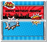 Calling All Superheroes - Personalized Birthday Party Candy Bar Wrappers
