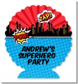 Calling All Superheroes - Personalized Birthday Party Centerpiece Stand