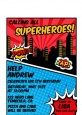 Calling All Superheroes - Birthday Party Petite Invitations thumbnail