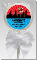 Calling All Superheroes - Personalized Birthday Party Lollipop Favors