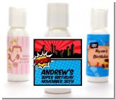 Calling All Superheroes - Personalized Birthday Party Lotion Favors
