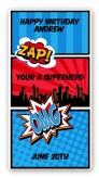 Calling All Superheroes - Custom Rectangle Birthday Party Sticker/Labels