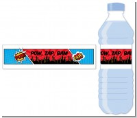 Calling All Superheroes - Personalized Birthday Party Water Bottle Labels