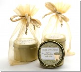 Camo Military - Baby Shower Gold Tin Candle Favors