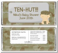 Camo Military - Personalized Baby Shower Candy Bar Wrappers