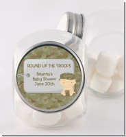Camo Military - Personalized Baby Shower Candy Jar