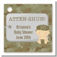 Camo Military - Personalized Baby Shower Card Stock Favor Tags thumbnail