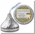 Camo Military - Hershey Kiss Baby Shower Sticker Labels thumbnail