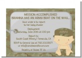 Camo Military - Baby Shower Petite Invitations