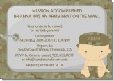 Camo Military - Baby Shower Invitations